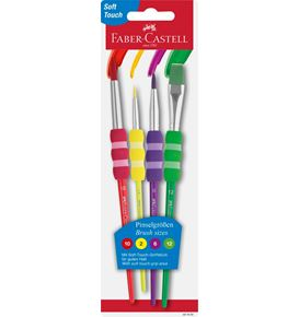 Faber-Castell - Pincel juego x4 soft touch