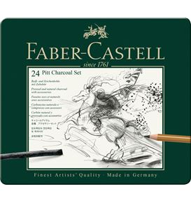 Faber-Castell - Juego Pitt Monochrome carbón x24